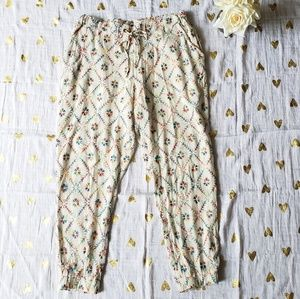 Free People Rainbow Embroidered Pants